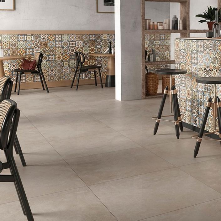 ebaypavimenti-Ceramica-Valsecchia-Recover-Taupe-60x60-pavimento-effetto-cemento